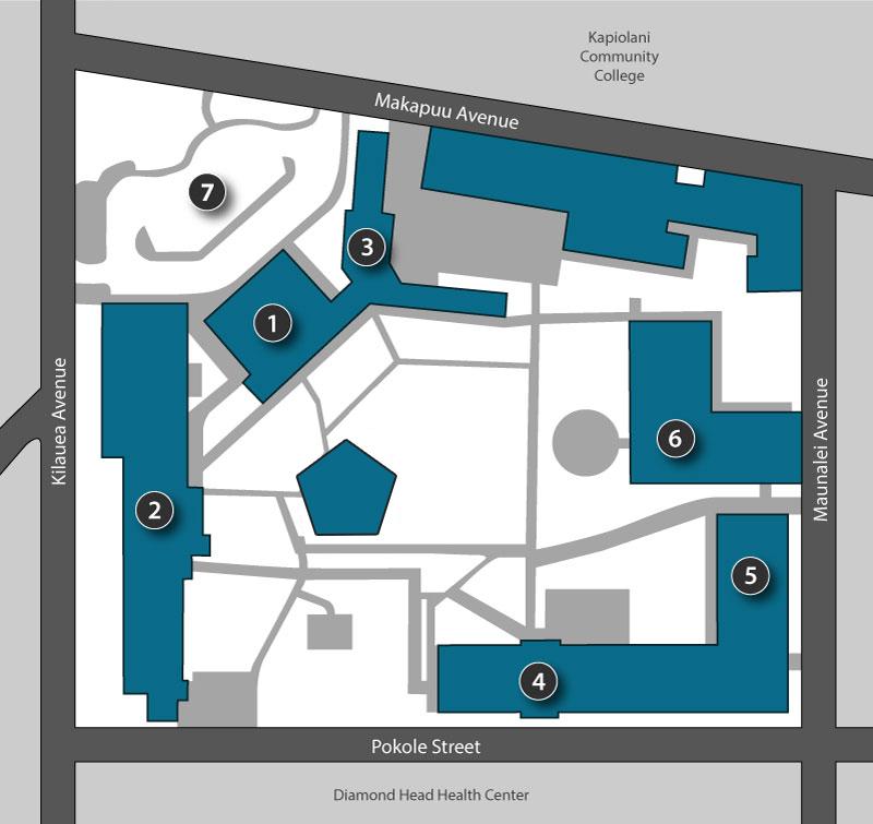 Leahi Campus Map
